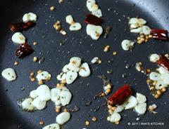 poriyal Tadka and garlic